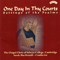 One Day in Thy Courts album cover