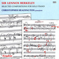 Sir Lennox Berkeley: Selected Compositions for Piano Solo album cover