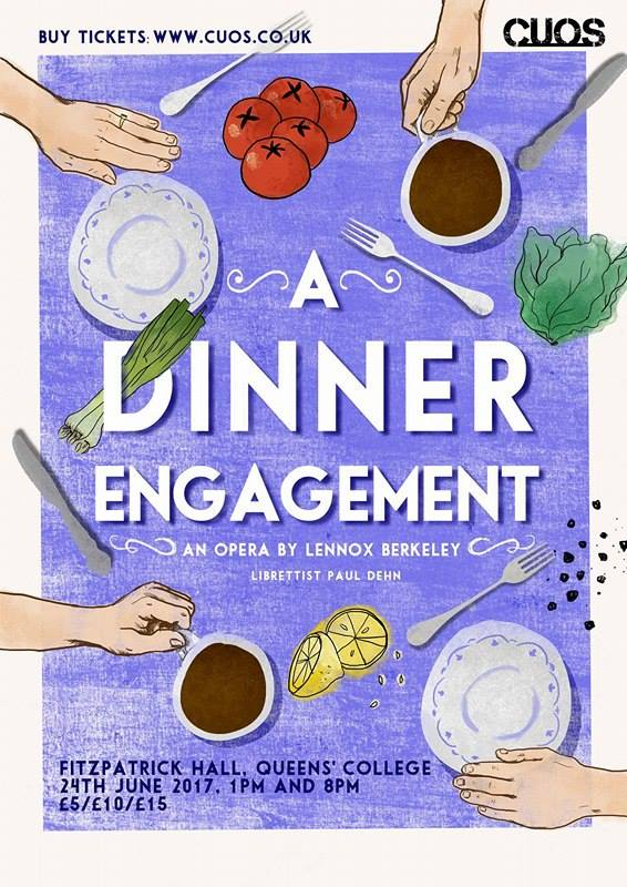 Dinner Engagement Cambridge University Opera Society poster