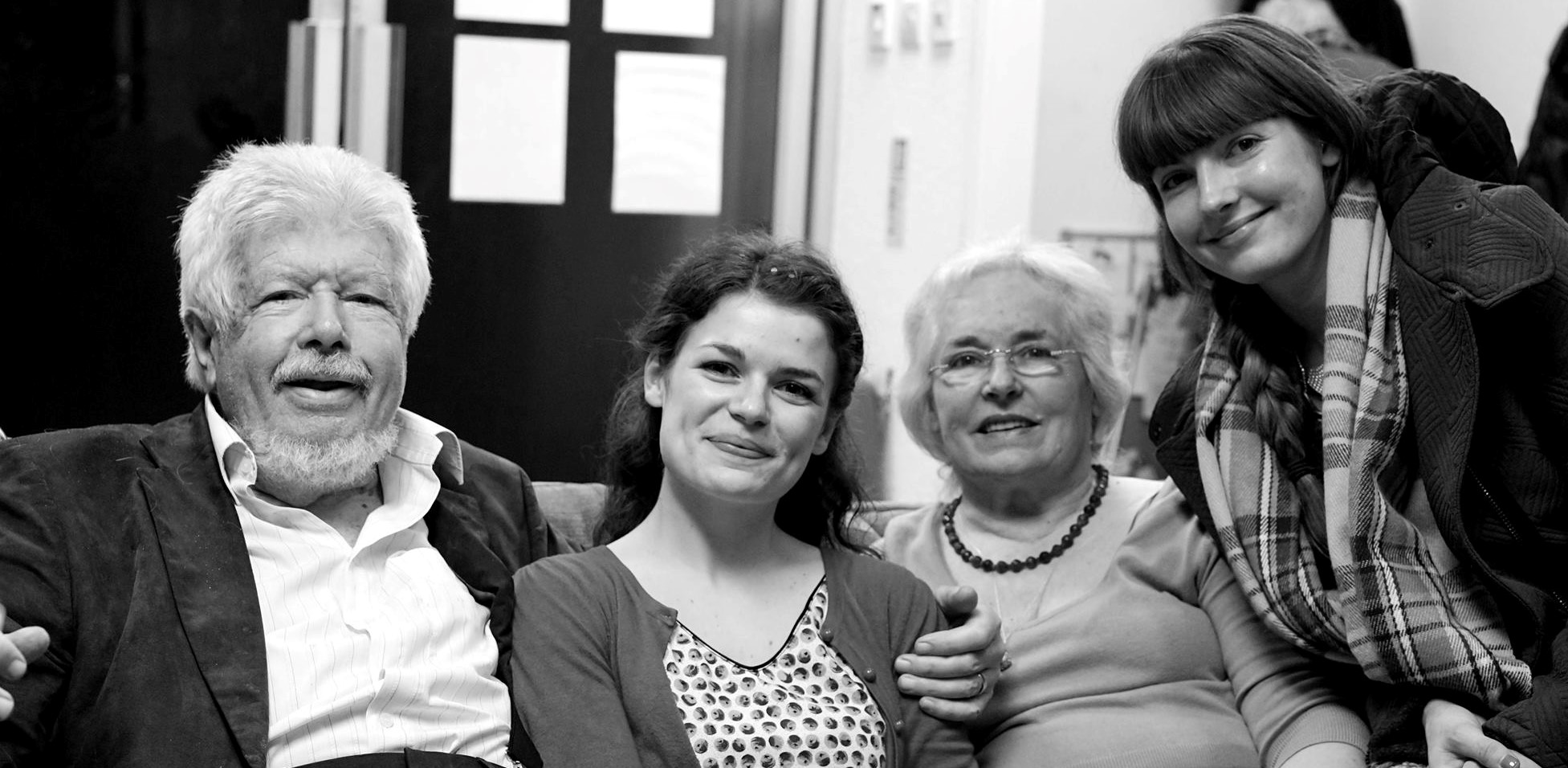 Roy Teed with (l to r) daughter Lucy, wife Jennifer and daughter Trudy, Colchester Buddhist Centre, 2015