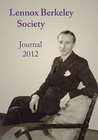 Lennox Berkeley Society 2012 Journal cover