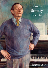 Lennox Berkeley Society 2013 Journal cover