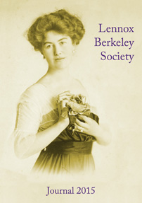Lennox Berkeley Society 2014 Journal cover